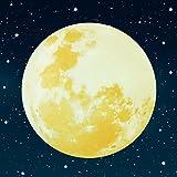 Paraboo Leucht Mond selbstklebend 30cm gelb für deinen Sternenhimmel oder