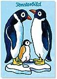 Fensterbild * Penguine * als Postkarte von LUTZ MAUDER // Fensterbilder Aufkleber Sticker Geschenk Bild Karte Tiere Peng