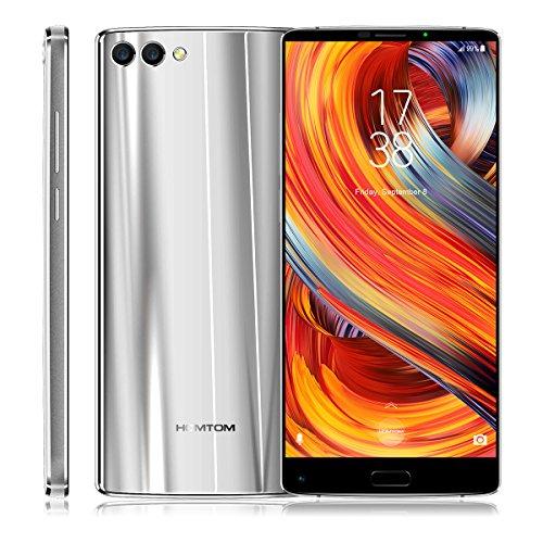 HOMTOM S9 Plus - 4G Smartphone, Android 7.0, Handy ohne Vertrag, 5.99 Zoll, MT6750T 1.5GHz Octa-Core, 4GB RAM 64GB ROM, 4050mAh, Fingerprintsensor ID, Frontkamera + Dual Back-Kamera, Dual SIM (Silber)