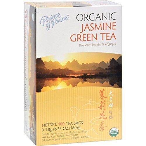 Príncipe de la Paz orgánico jazmín té verde 100bolsitas de té
