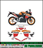 Kit adesivi decal stikers HONDA CBR 125 REPSOL (ability to customize the colors)