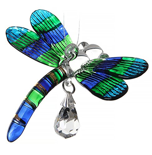 Fantasy Glass Dragonfly Suncatcher, natur,