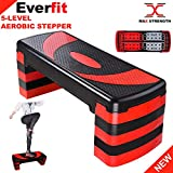 Best Aerobic Steppers - Max Strength 5 Level Aerobic Stepper Height Adjustable Review