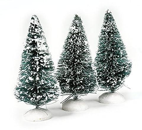 VBS 3 Tannenbaum beschneit Miniatur-Tannenbäume Landschaft Winter-Deko