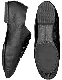 Starlite Negro Hyper Easy Slip On Leather Jazz Shoe 1.5L Kylm1Lued