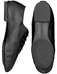 Starlite Black Split Suede Sole Jazz Zapato