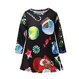 YanHoo Natale Infants Bambini Ragazze Cartoon Candy Star Print Dress Abiti  Abiti 50925e0cc9fe