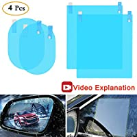 Anti Fog Film Car Rear View Mirror Waterproof Film Protective Film Anti Glare Rain-Proof Anti Water Mist, HD Nano Film Anti-Glare,Anti-Scratch,Rainproof Side window Car rearview mirror Blue KerKoor