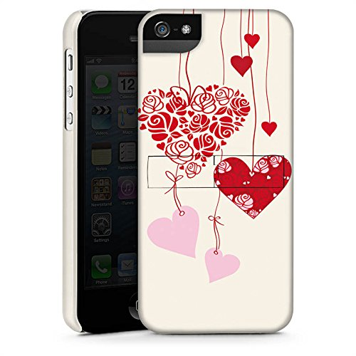 Apple iPhone 5s Housse étui coque protection C½urs Amour Amour CasStandup blanc