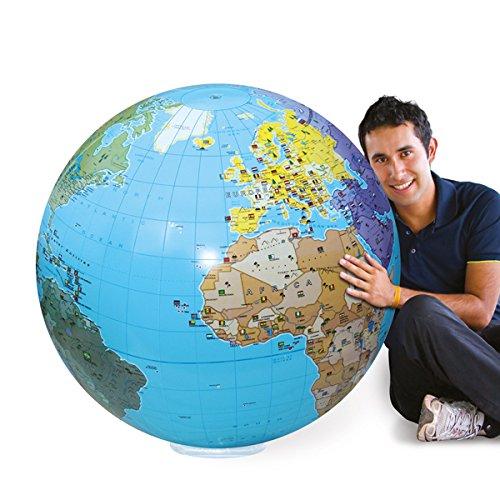 Caly Sarl–060F–Globo Hinchable del Mundo–Talla 85cm