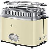 Russell Hobbs 21682-56 Retro Vintage Cream Toaster mit stylischer Countdown-Anzeige, Schnell-Toast-Technologie, 1300 W, creme