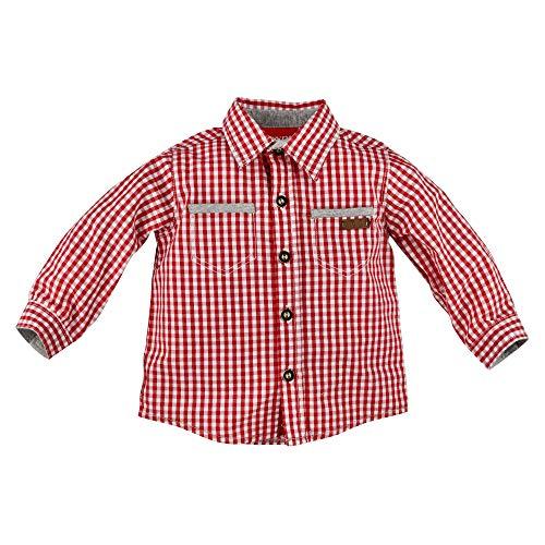 BONDI Trachtenhemd kariert, karo rot/Weiss 68 Tracht Baby Jungs Artikel-Nr.91205