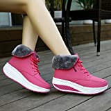 UFACE Frauen Freizeit Plus Velvet Bottom Sportschuh Wedges Thick Bottom Damen Sneakers Test