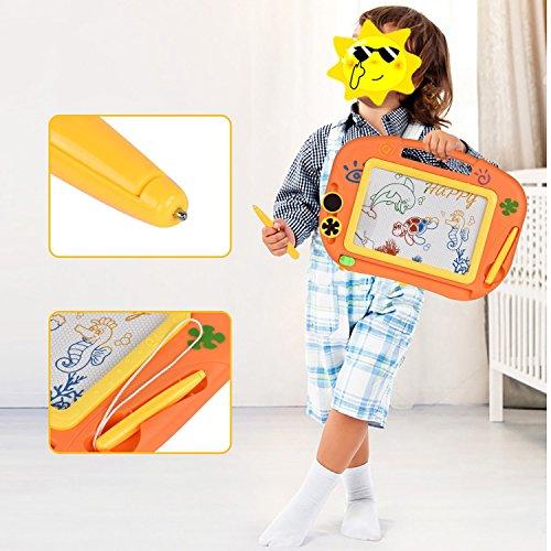 Pizarras Mágicas Colorido con Pluma de TTMOW  Almohadilla Borrable de Escritura y Dibujo  Juguetes Educativos para niños 2 años 3 años 4 años (Naranja)