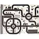 Lalaoo Kids Play Mat, City Road Buildings Parking Map Pad Game Educational Toys Toddler Children Carpet Play mat Rug City Life Great for Playing with Cars and Toys