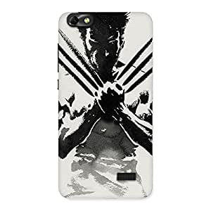 Enticing Ready Wolf Shade Back Case Cover for Honor 4C
