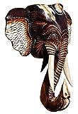 Schöne 30 cm Elefant Holz Afrika Wand Maske 48.30