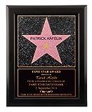 Fame Star Award Bild - Geschenk als personalisiertes Bild mit Name im Holzrahmen 48 x 38 cm im Walk of Fame Stil