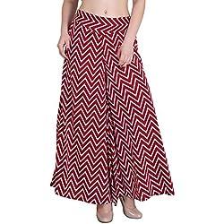 Myshka Women's Regular Fit Red Palazzo (PPZ002_40)