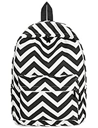 Aeoss School bag Preppy Style Women Backpack Bags Double-Shoulder Sweet Stripe Canvas School Collage Travel Bag ( Size:L-37 x B-28 X W 3 Suitable for small kids only )