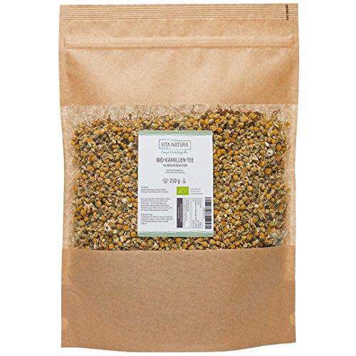 Kamillen Tee | Kamillenblüten aus Bio-Anbau | Kamillentee lose | Apothekenqualität | Familienpackung | 250 g