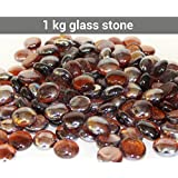 [Sponsored]TiedRibbons® Glass Vase Filler Stones | Stones Decorative | Pebbles And Stones | Decorative Stones For Table | Pebbles In The Water(1 KG,Brownish)