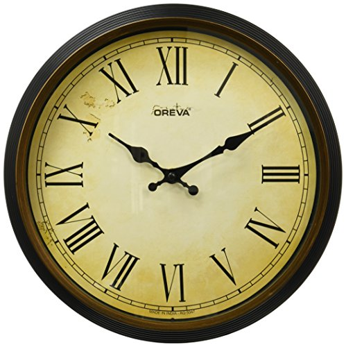 Ajanta Oreva Quartz Wooden Finished Plastic Round Shape Wall Clock