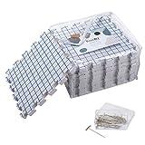 knitiq bloqueo alfombrillas para tejer–Extra grueso bloqueo de juntas con esmaltadas con 100t-pins y bolsa de almacenamiento para costura o Ganchillo–Pack de 9