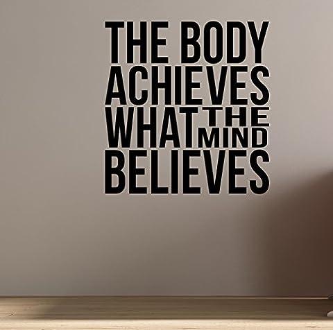 Le corps permet que l'esprit croit... Sticker