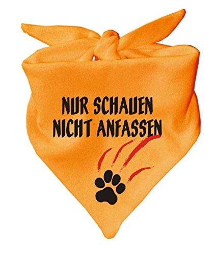 Hunde Dreiecks Halstuch (Fb: gelb) Nur schauen nicht anfassen