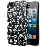 El Mortal Instrumentos City Of Bones iphone 5Case Negro y Blanco runas