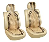 #8: Car Wooden Bead Seat Acupressure Design Universal Size (Set Of 2)