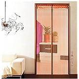 Mosquitera para puerta mosquitera magnético mosca cortina 12tamaño disponible compatible con puertas hasta 80cm x 210cm Cortina Puerta Corredera Terrazas para puerta