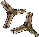 Aerzetix: 2x triple Armaturen Kompressor Druckluft Ø6mm Y-Koppler Eilerleiste C18587