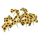 NUOLUX Schicke Mini künstliche Sonnenblumen Hochzeit Karte Dekor Papiermodelle DIY-Pack