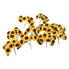 Idea Regalo - ultnice 100pcs Chic Mini carta artificiale Girasole DIY Craft per la decorazione festa di nozze