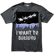 I Want To Believe Xmas Christmas Santa T Shirt
