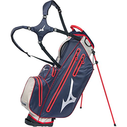 Mizuno BRDRIWPS Sac de Golf Mixte Adulte, Marine/Rouge