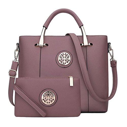 Singola borsa delle donne di modo delle Messenger Bag borsa donne 2 Pezzi Azzurro Viola