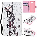 Coque Samsung Galaxy A3 2016 en Cuir,Samsung Galaxy A3 2016 Housse de Protection,Meet de Apple Samsung Galaxy A3 2016 Pliable Magnetique Portefeuille Wallet Silicone Back Étui avec Lanyard,Wallet / Case / Housse, Coque de protection en silicone TPU,Bookstyle Painting Rabat Shell Couvercle Housse Motif Flip Cover Clapet Case avec Fonction de Support et porte carte pour Samsung Galaxy A3 2016[tour de transmission]