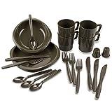 BlackSnake® Campinggeschirr 26 -teiliges Set aus bruchfreiem Material