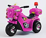 Trendsky® Pink Kinder Motorrad Elektrofahrzeug Polizei Bike Akku Kindermotorrad Elektromotorrad in Rosa