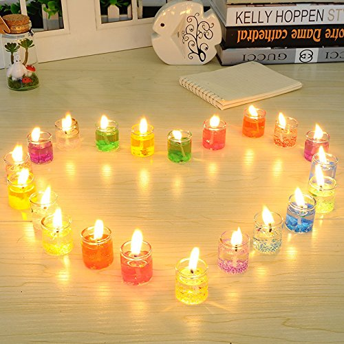 ZHUANGJI Glass Candles Jelly Candles Romantic Novelty European Candlelight Dinner -
