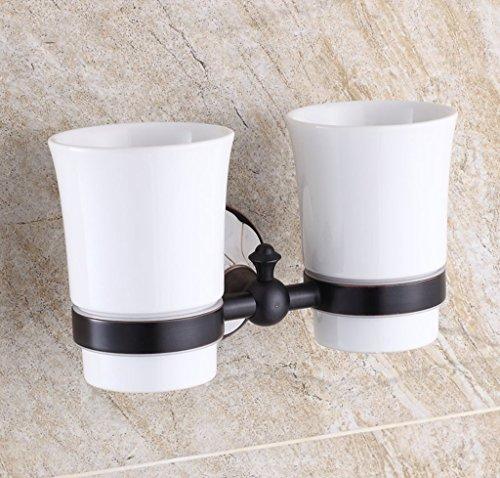 Xzi Brosse à dents titulaire de la cupule en céramique tasse double tasse de style européen 21 * 10,5 cm A+