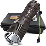 HIILIGHT Lampe de poche LED 3000Pro–Lenser XM-L2Outdoor tactique avec kit batterie Taschenlampe-3000+Akku+Ladegerät