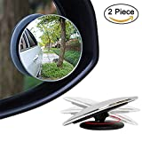 #7: SBE HD Glass Convex Rear View Blind Spot Mirror with 360° Rotatable + 30° Sway, Adjustable Wide Angle Rear View for All Cars (2pcs)