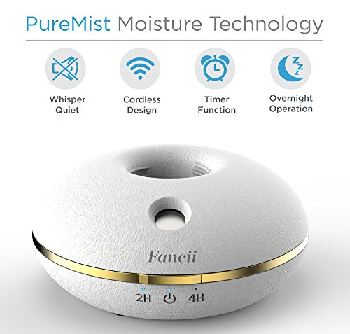 Fancii Cool Mist Portable Mini Humidifier for Travel – USB or Battery Operated, Water Bottle, Ultra Quiet, Auto Shutoff…