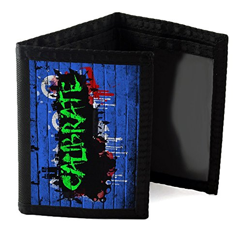 Preisvergleich Produktbild Graffiti 10022, Calibrate, Designer Schwarz Unisex Nylon Geldbörse Kreditkarte Holder Ripper Portemonnaie Geldbeutel mit Farbig Design.