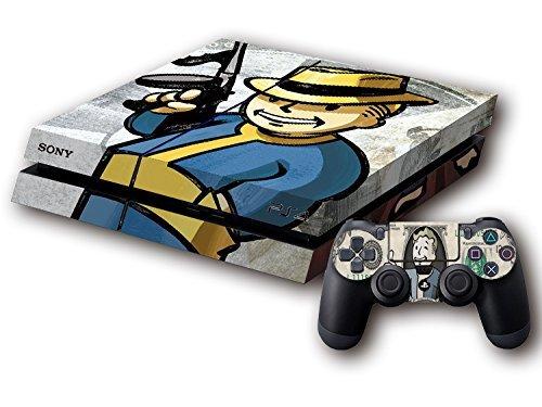 Generic Handy Skin für Sony PS4 Konsole und 2 Dualshock Controller - Air Jordan 3 Retro Skin Cover Sticker Fallout 4 Vault Boy PS4 Skin (Konsole Vault)