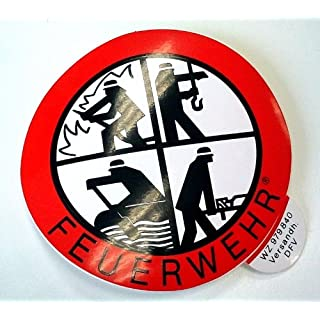 Signet Klebeplakette FEUERWEHR 90 mm (außen) Retten - Bergen - Löschen- Wasserrettung